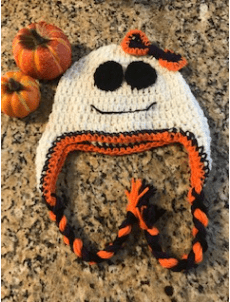 Not So Scary Crochet Ghost Hat Pattern