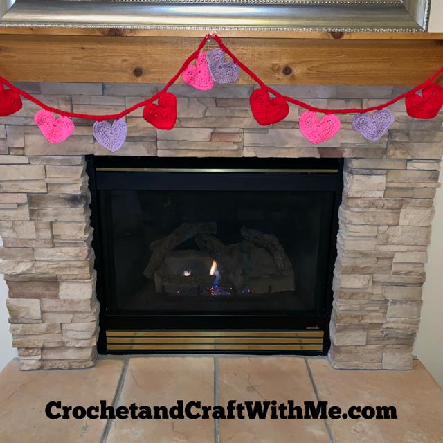 Valentine's Crochet Heart Banner- Free Pattern