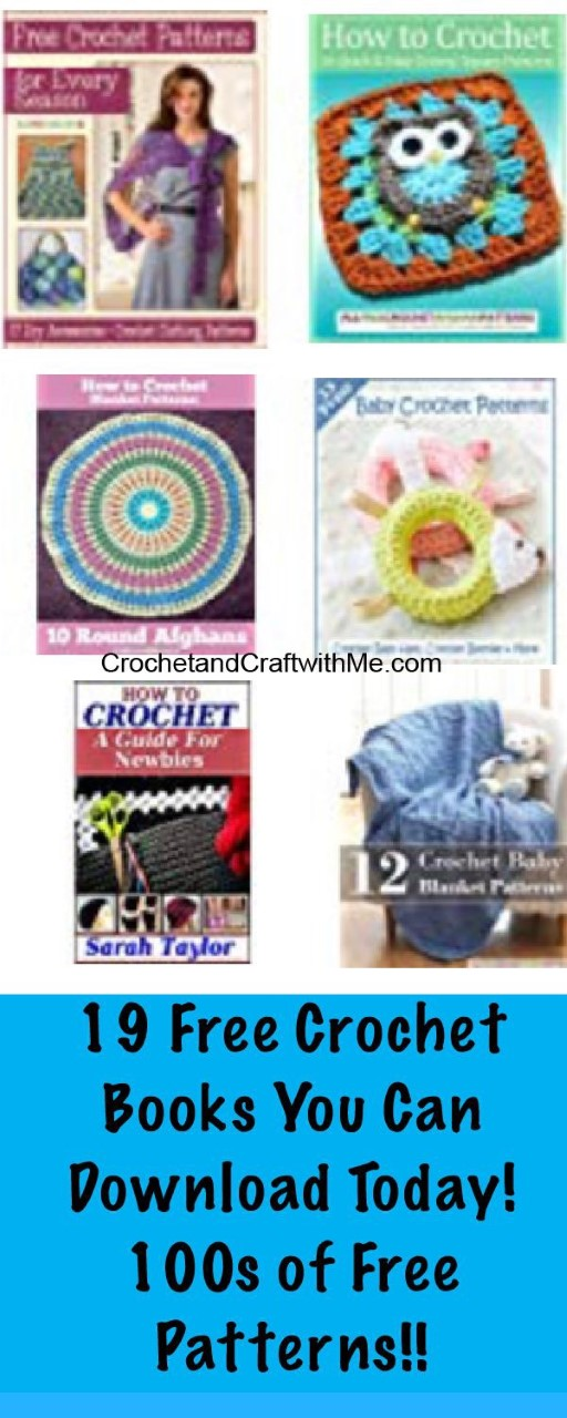 19 Free Crochet Books You can Get On Amazon Today!  4/19/2019