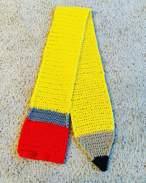 Crochet Pencil Scarf- National Teacher Appreciation Week