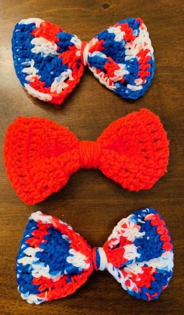 Crochet Fourth of July Hair Bows