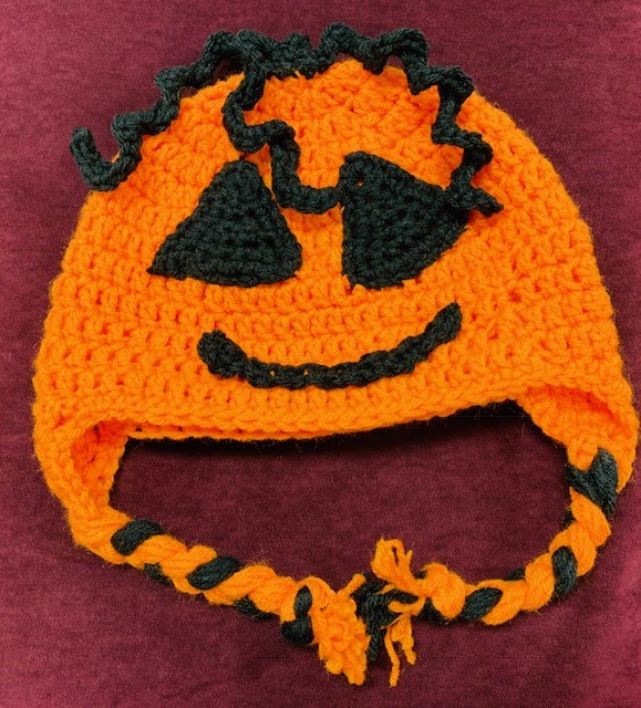 Crochet Jack O' Lantern Hat