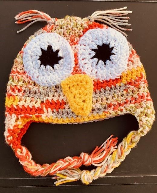 Crochet Owl Hat- Free Pattern