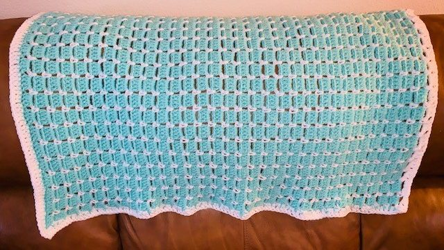 How to do The Block Stitch and a Free Baby Blanket Pattern