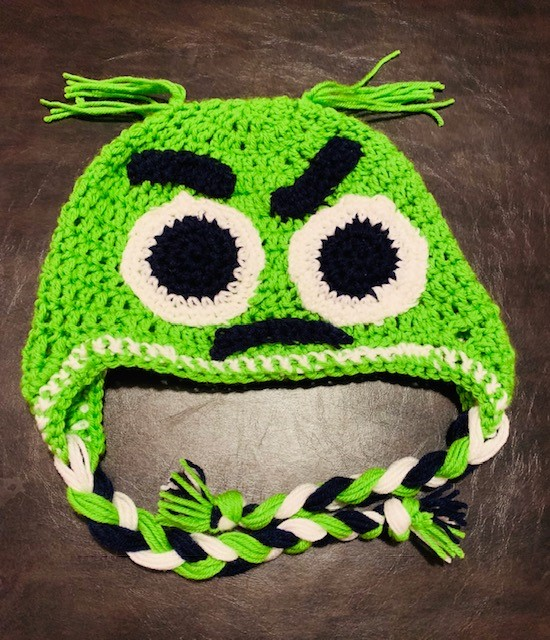 Funny, Angry Monster Hat- Free Pattern