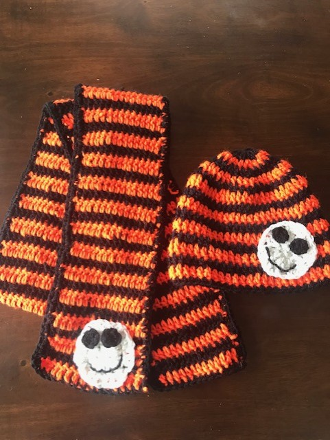 Not Scary Halloween Hat and Scarf Set