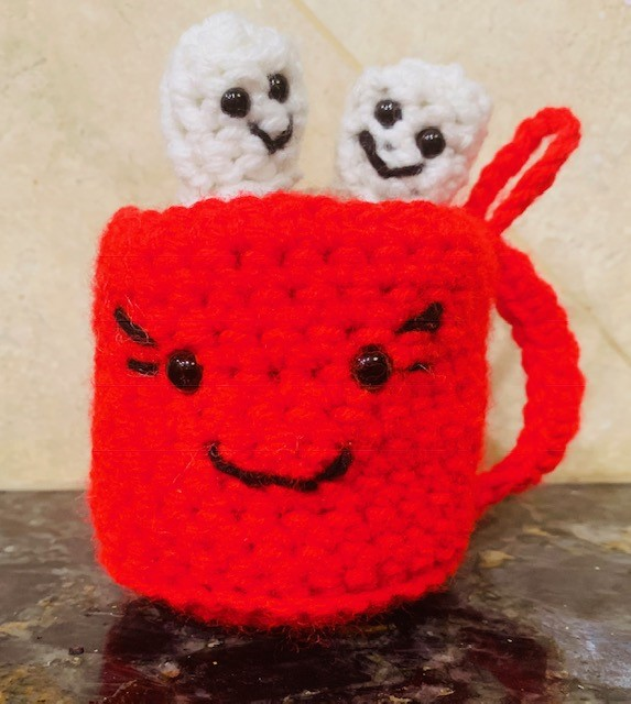 Crochet Hot Cocoa Amigurumi Ornament