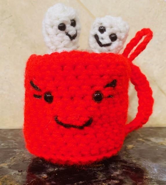 Crochet Hot Cocoa Amigurumi Ornament